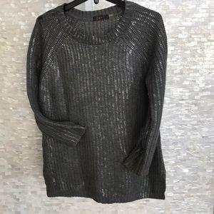 Dex grey/silver crew neck sweater